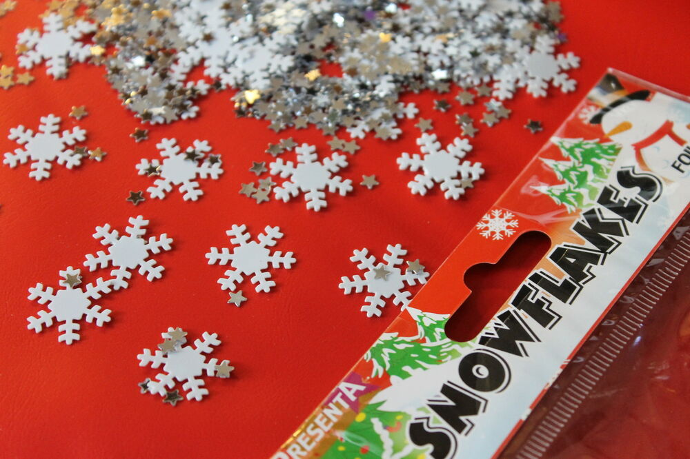 100 snowflake table confetti scatter frozen ice decoration