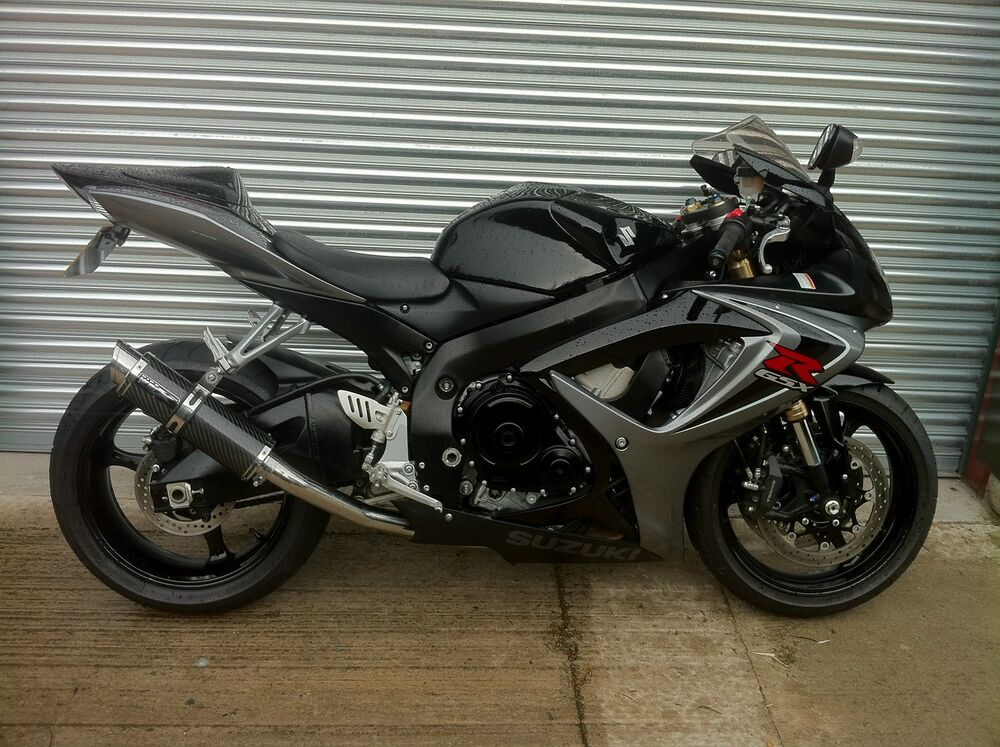 suzuki gsxr 750 k6 k7 carbon fibre gp stubby race exhaust. Black Bedroom Furniture Sets. Home Design Ideas