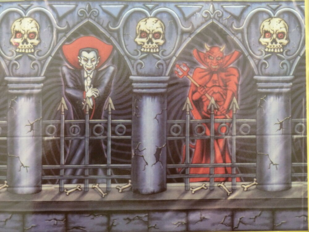 Halloween Scene Setter Large Wall Decoration Dracula Devil