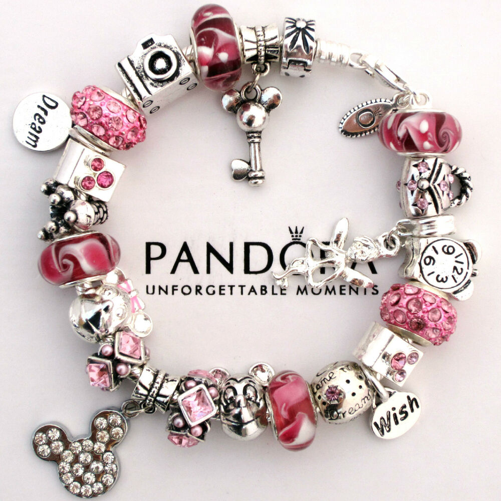 authentic pandora bracelet pink love mickey mouse wish. Black Bedroom Furniture Sets. Home Design Ideas