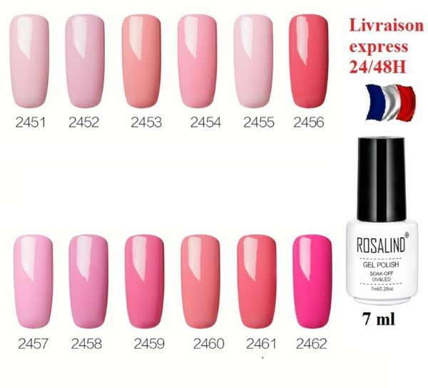 VERNIS A ONGLES UV GEL SOAK OFF SEMI PERMANENT TOP- BASE LIVR EXPRESS 24-48H