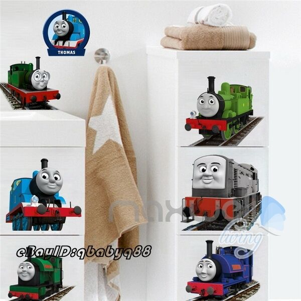 thomas friends train removable wall sticker decals decor. Black Bedroom Furniture Sets. Home Design Ideas