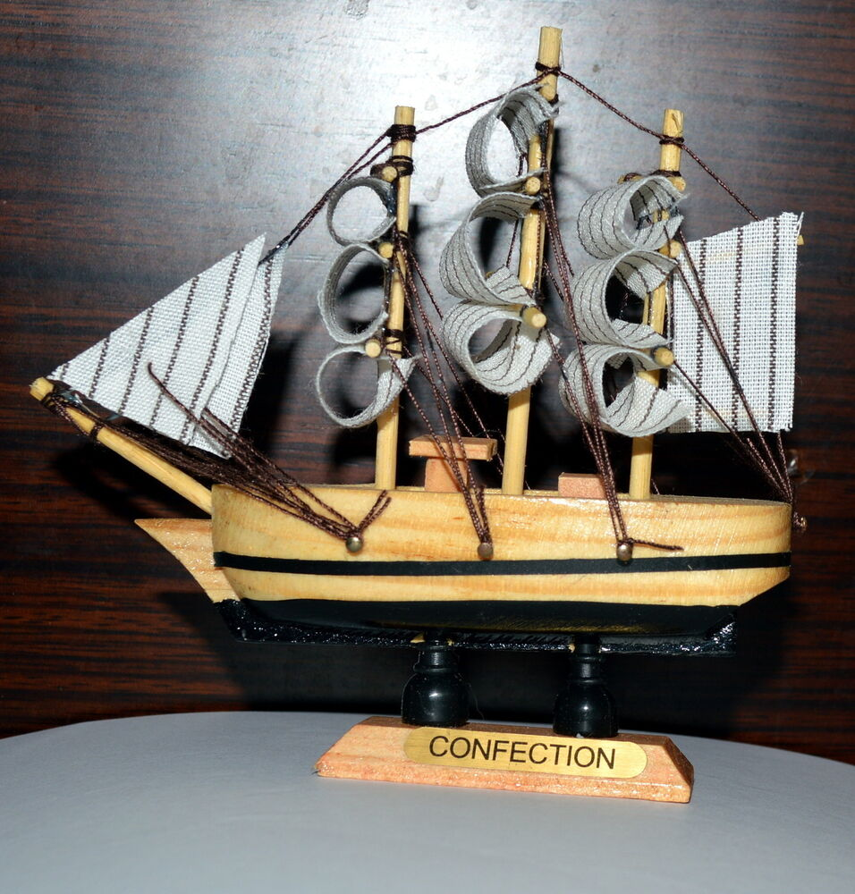 Boat Home Decor: Glory Vintage Nautical Wooden Wood SHIP Sailboat Boat Home