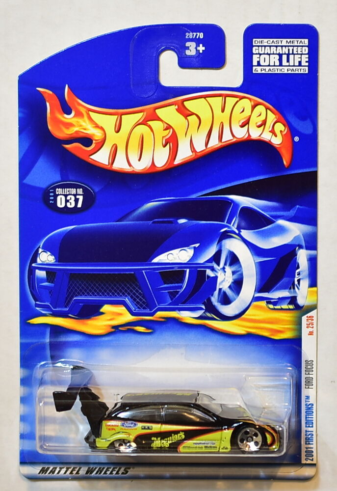 Hot Wheels 2001 First Editions Ford Focus 037 Black Ebay