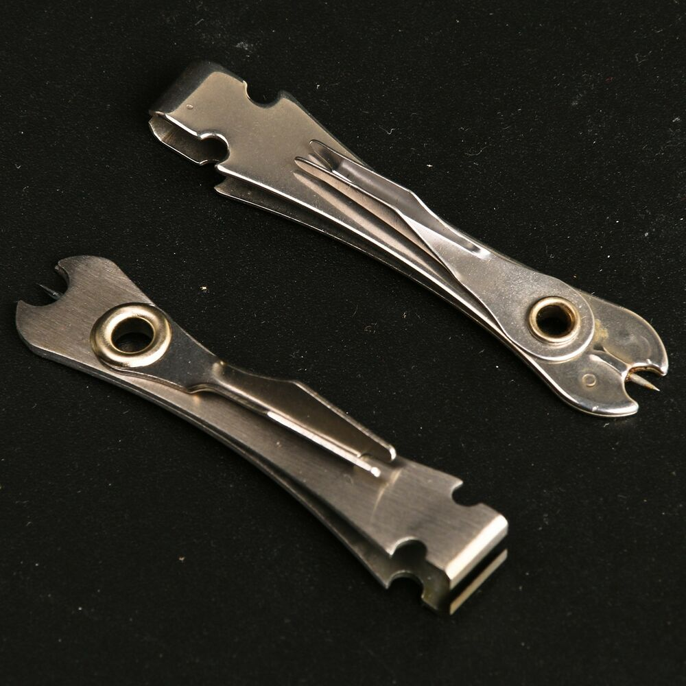 2 pieces stainless steel fly fishing nipper with knot for Fly fishing nippers