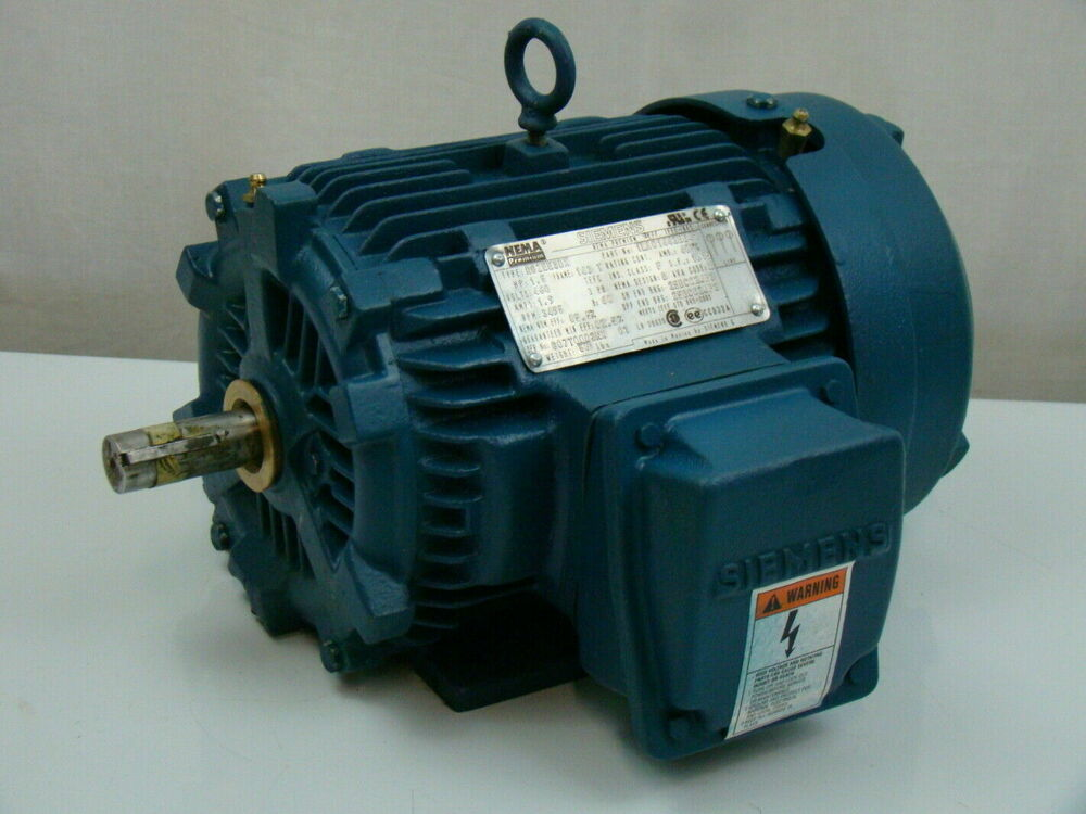 Siemens 1 5 hp 460v electric motor 1la014423341 ebay for One horsepower electric motor