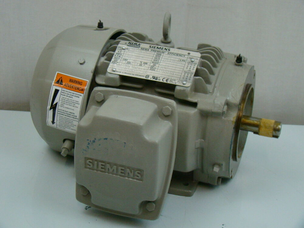 Siemens 1 hp 1755 rpm electric motor sd100 ebay for One horsepower electric motor