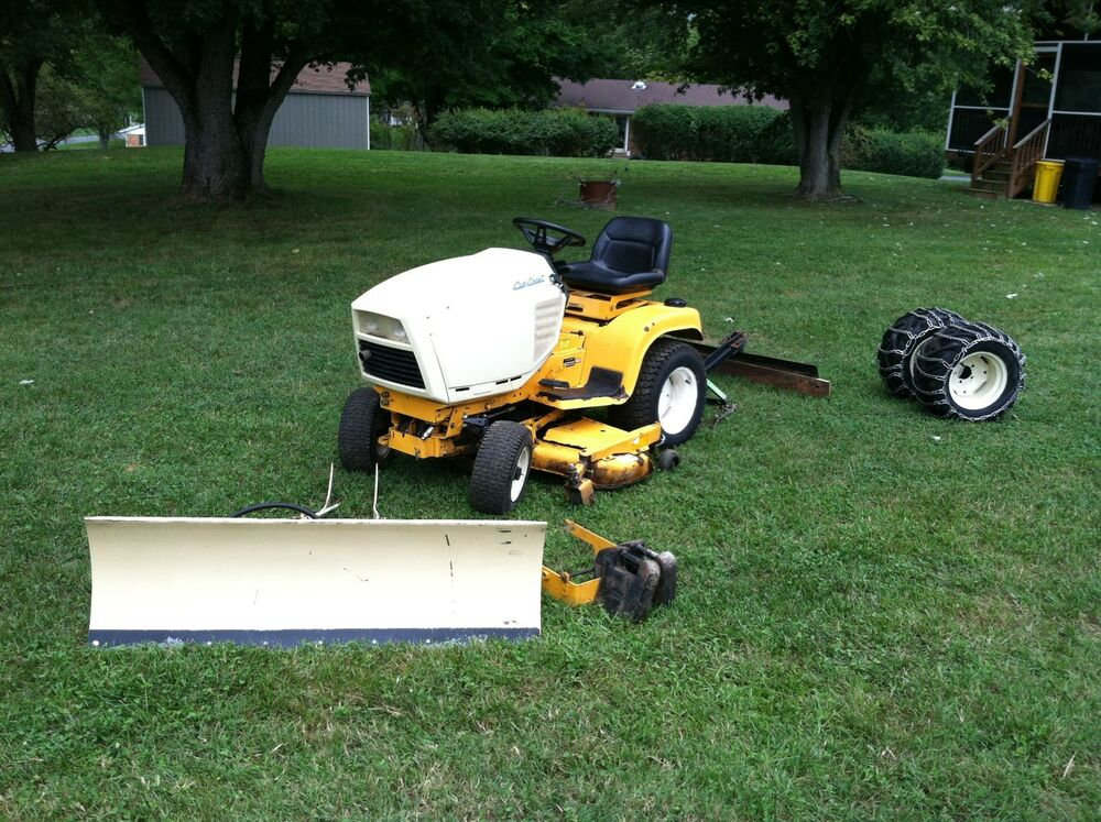 cub cadet 1863 garden tractor snow plow 3point rear hitch 48 mower deck ebay. Black Bedroom Furniture Sets. Home Design Ideas