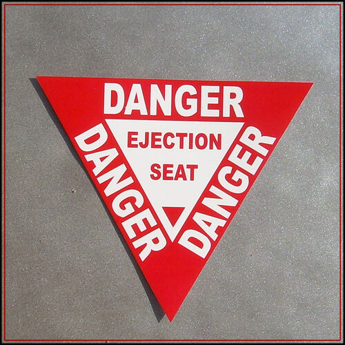 Danger Ejection Seat Sticker Decal Vinyl Car Chair