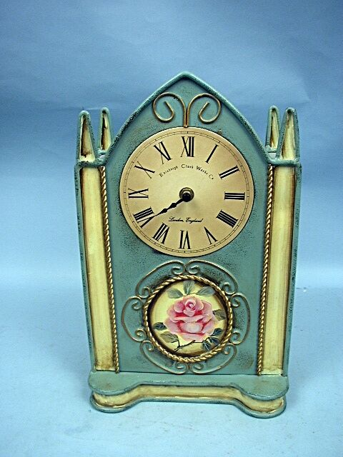 Large Metal Quartz Cathedral Clock By Edinbergh Clock