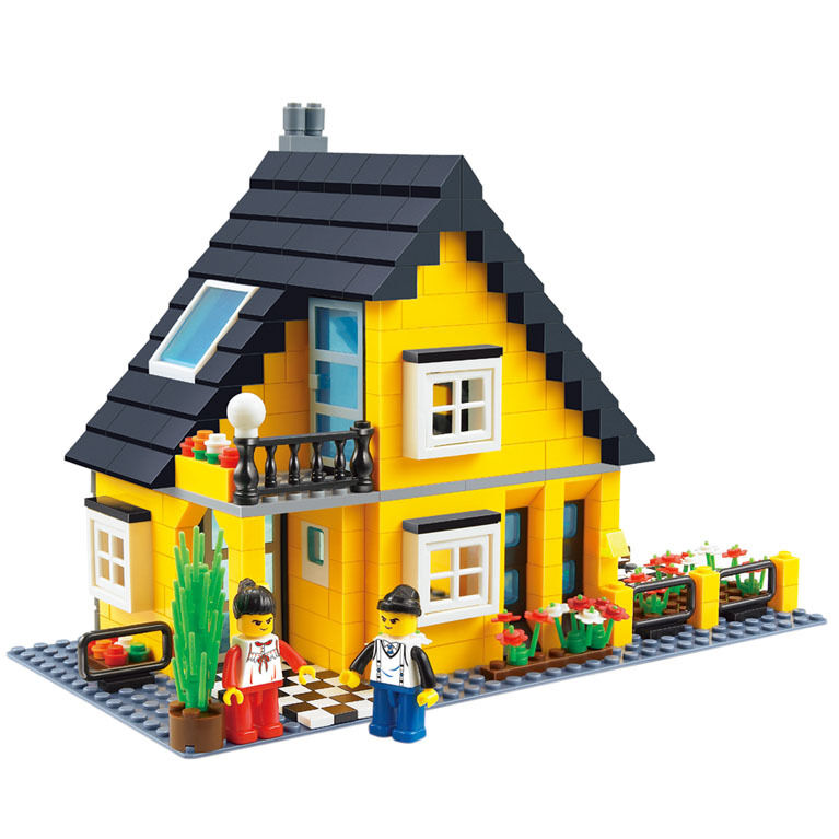 Toys For House : New building blocks city inn villa house garden toy gift