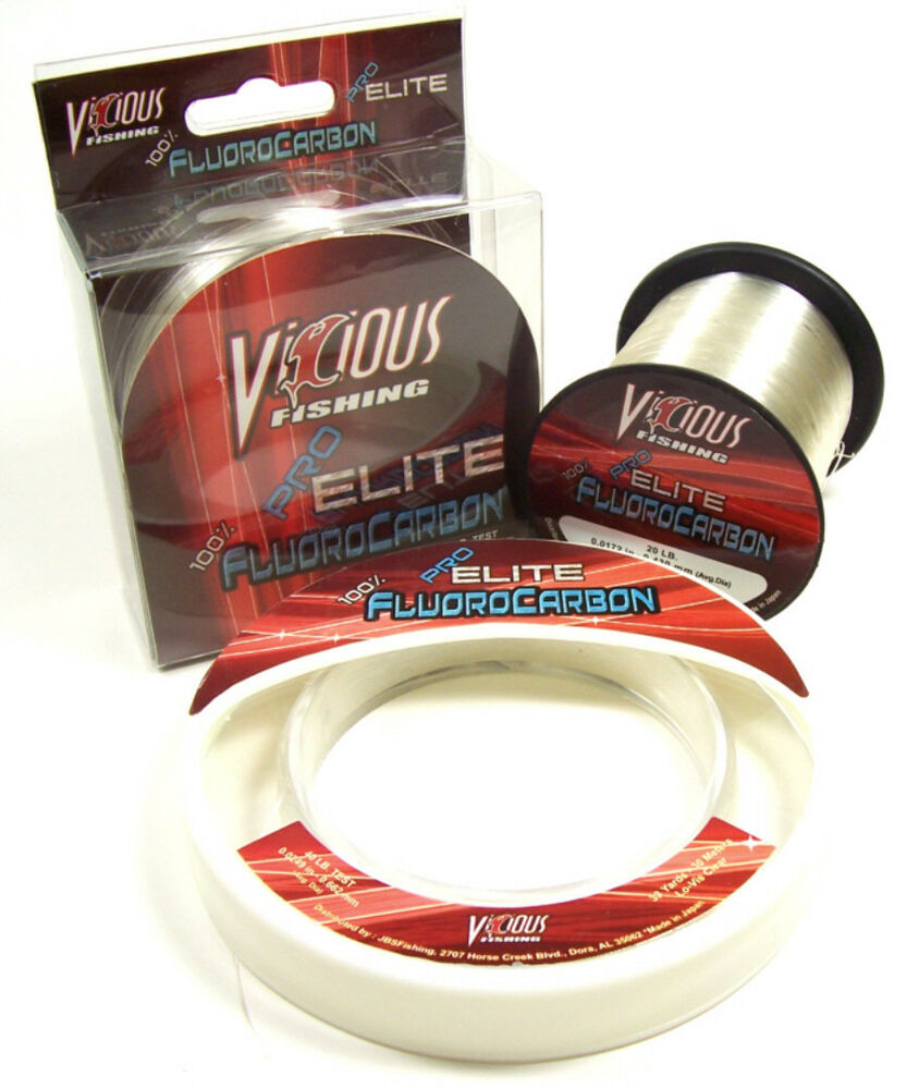 Vicious pro elite fluorocarbon fishing line 800 yards for Fishing line test