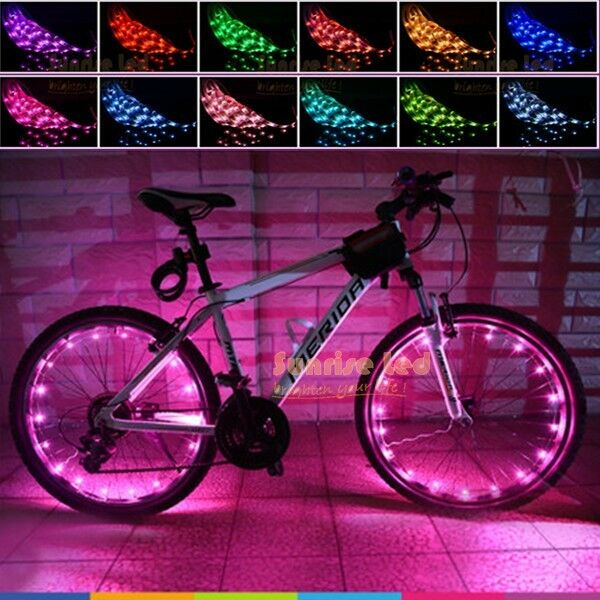 Bike Bicycle Led Strip 50cm 1 6ft Rgb Multi Colour