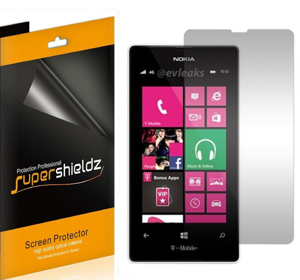 Review T Mobile Nokia Lumia 521: 6X Supershieldz HD Clear Screen Protector Shield For Nokia