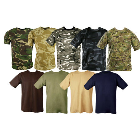 img-Large Lot of Unisex MILITARY CAMOUFLAGE CAMO T SHIRT ARMY COMBAT ( MTP shirts