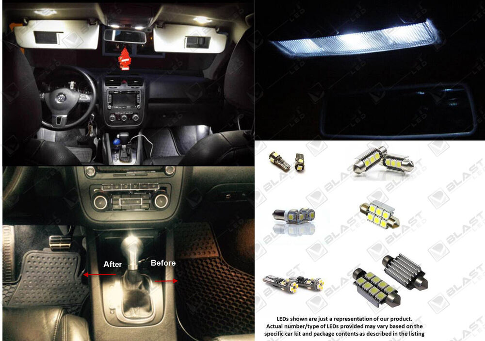 10pc white light smd led interior package kit for vw volkswagen passat b7 ebay. Black Bedroom Furniture Sets. Home Design Ideas