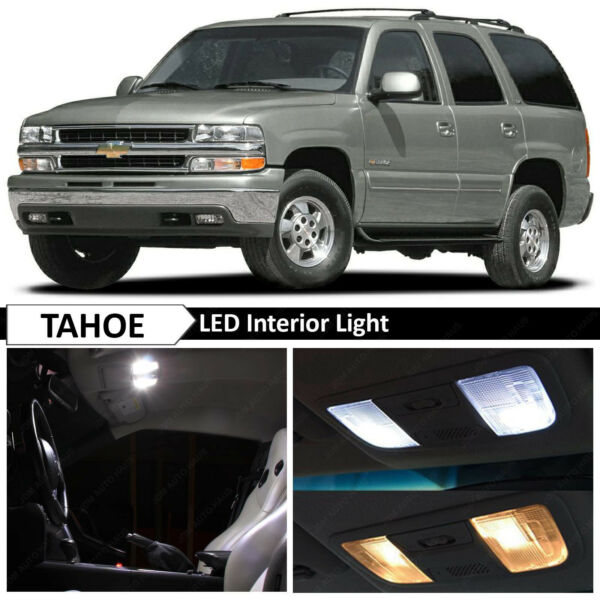20 pcs White Full Interior LED Lights Bulbs Package for 2000-2006 Chevy Tahoe