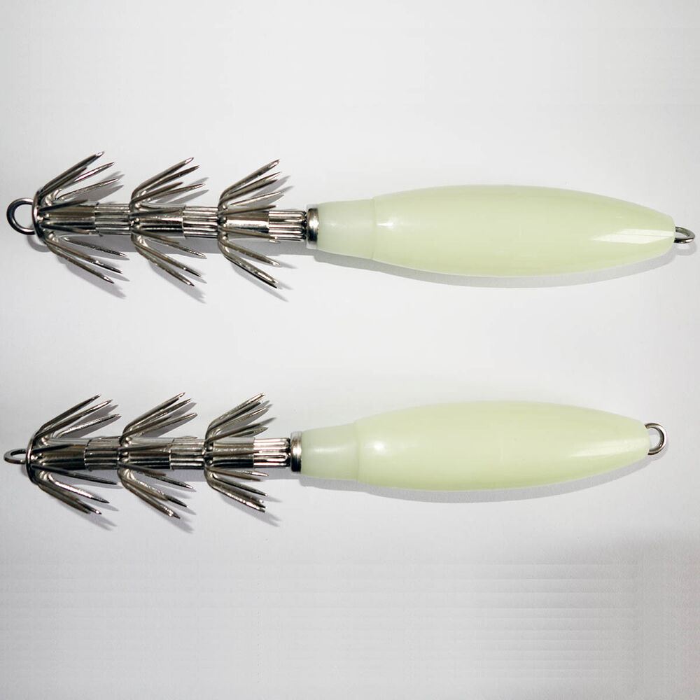 2x deep sea giant squid jig jigs lumo body 7 1 2 inch for Fishing with jigs