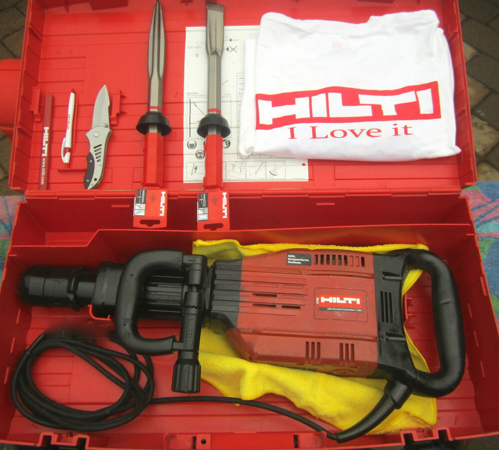 hilti te 905 avr breaker hammer 230 volts in good condition free t shirt ebay. Black Bedroom Furniture Sets. Home Design Ideas