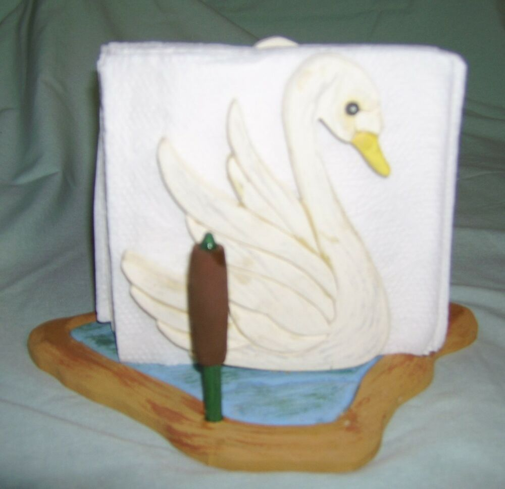 Hand Crafted Napkin Holder - Swan