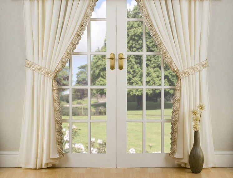peru lined voile curtains tie