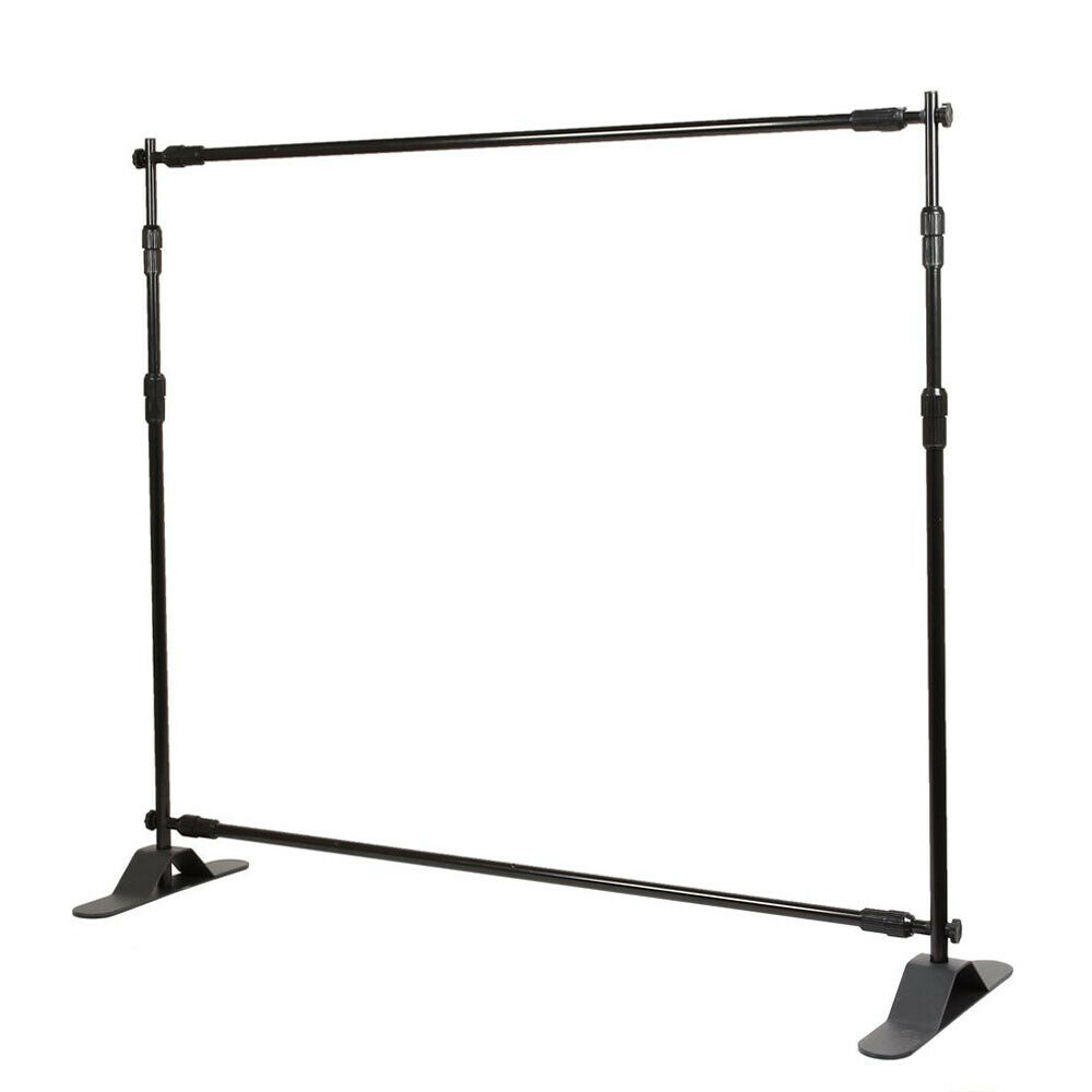 8 Telescopic Backdrop Stand Adjustable Banner Display