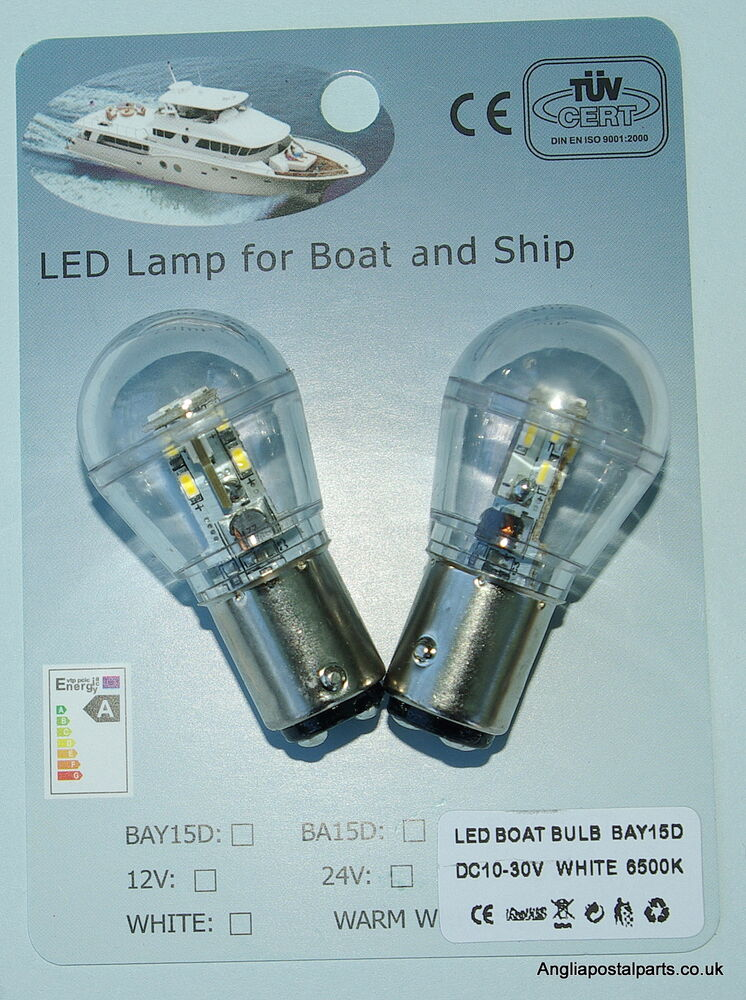 2 x 12 24 volt led bulb lamp marine ships boat navigation. Black Bedroom Furniture Sets. Home Design Ideas