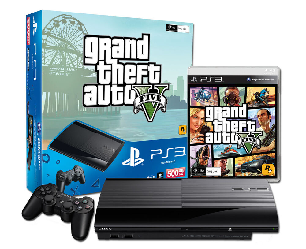 limited edition 500gb black grand theft auto v ps3 console. Black Bedroom Furniture Sets. Home Design Ideas