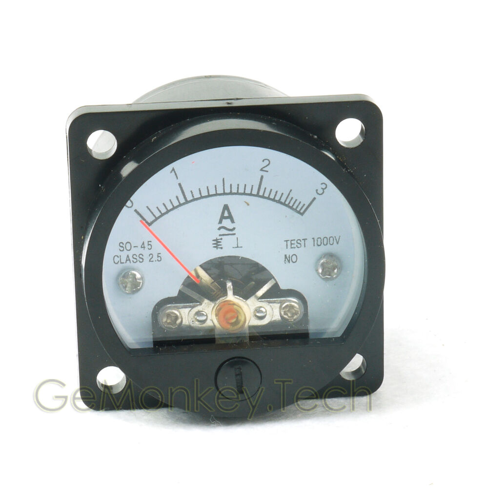 analog amp current panel meter ammeter 3a ac ebay. Black Bedroom Furniture Sets. Home Design Ideas