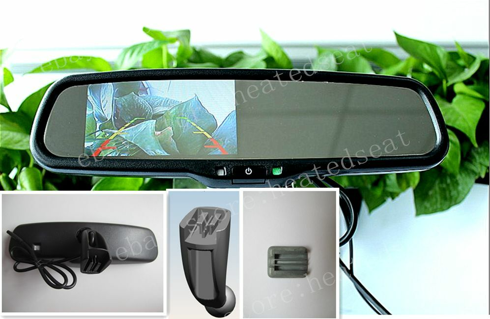 rear view mirror 4 3 lcd display fits citroen peugeot etc 761710521512 ebay. Black Bedroom Furniture Sets. Home Design Ideas