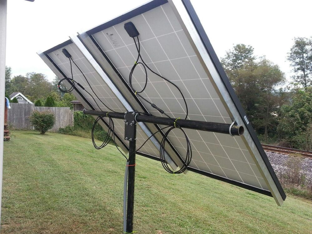 Universal solar panel pole mount kit, holds 2 large panels or 4 100 ...
