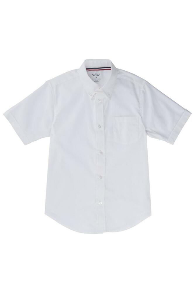 Boys Girls White Oxford Shirt French Toast Short Sleeve