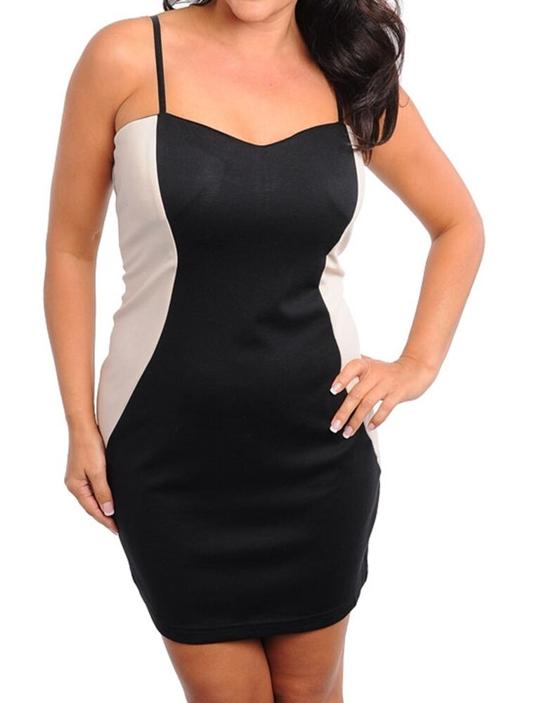 WOMENS PLUS SIZE CLOTHING BLACK AND BEIGE PARTY DRESS | eBay