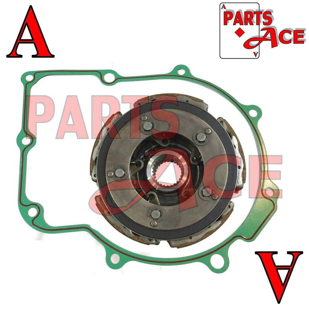 Wet Clutch Pad Shoe /& gasket Fit For 2002-2008 Yamaha Grizzly YFM660