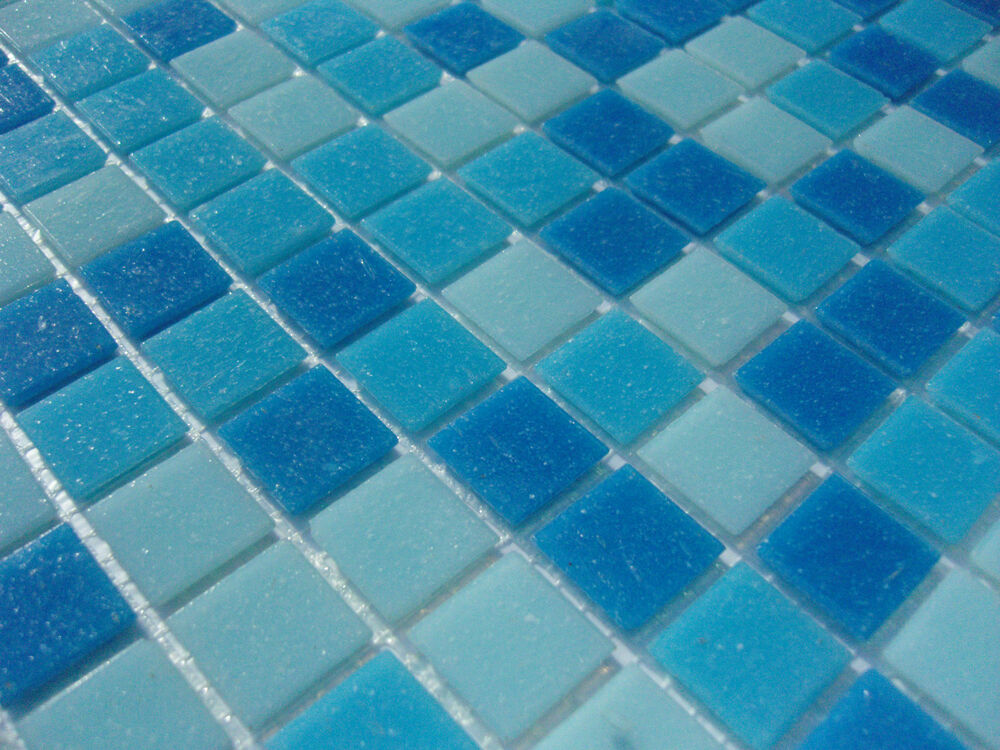 glas mosaik fliesen pool dusche bad azur blau hellblau. Black Bedroom Furniture Sets. Home Design Ideas