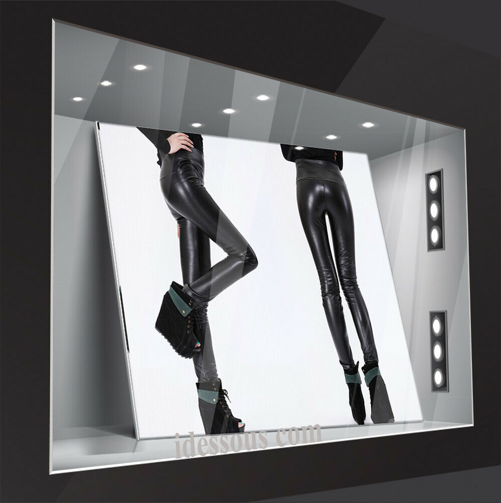 sexy high waist leggings wetlook leggins leder optik. Black Bedroom Furniture Sets. Home Design Ideas