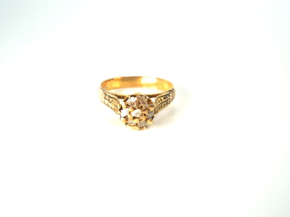 antique 14kt yg cut 20 ct ring