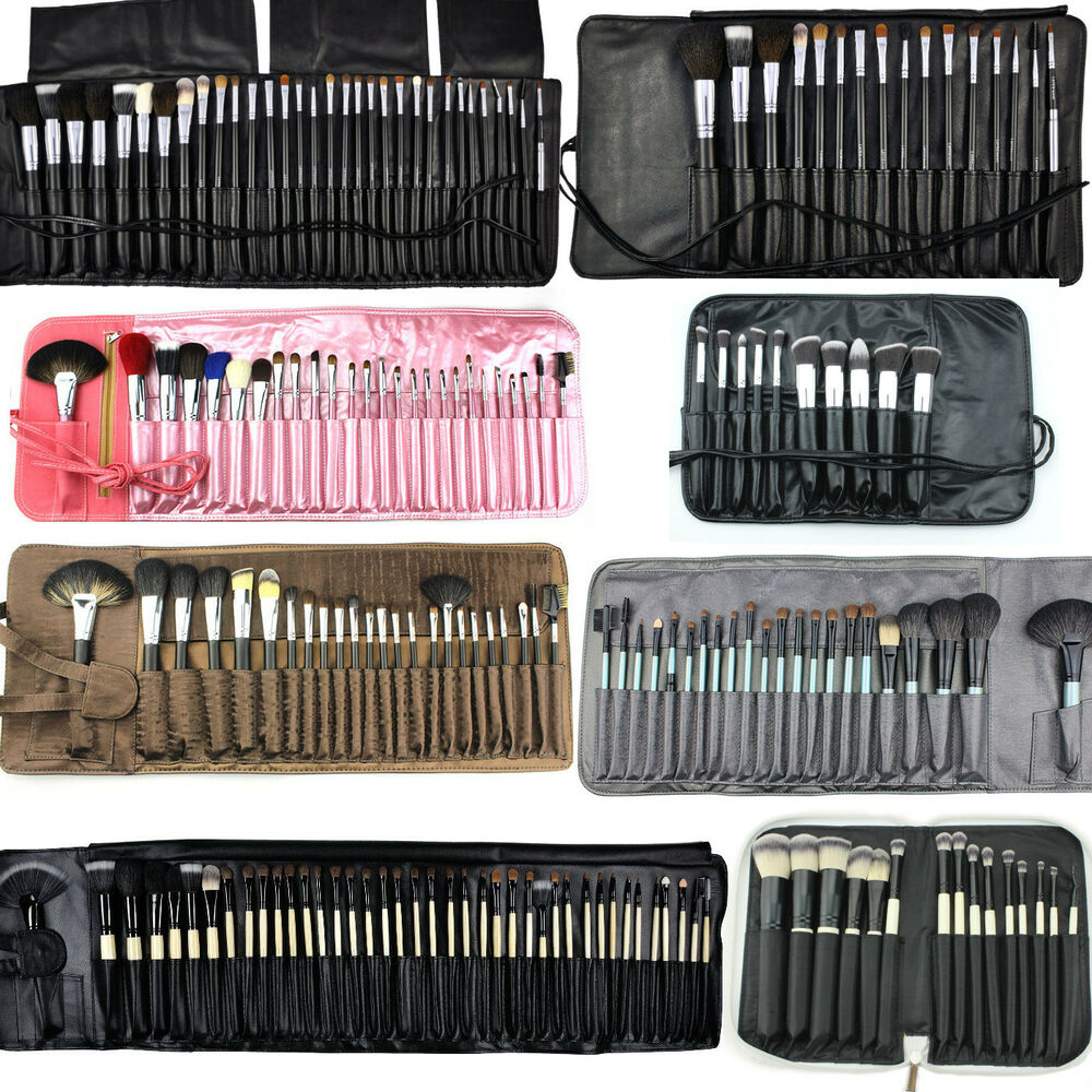 professionelle kosmetik pinsel make up naturhaar profi brush schminkpinsel set ebay. Black Bedroom Furniture Sets. Home Design Ideas