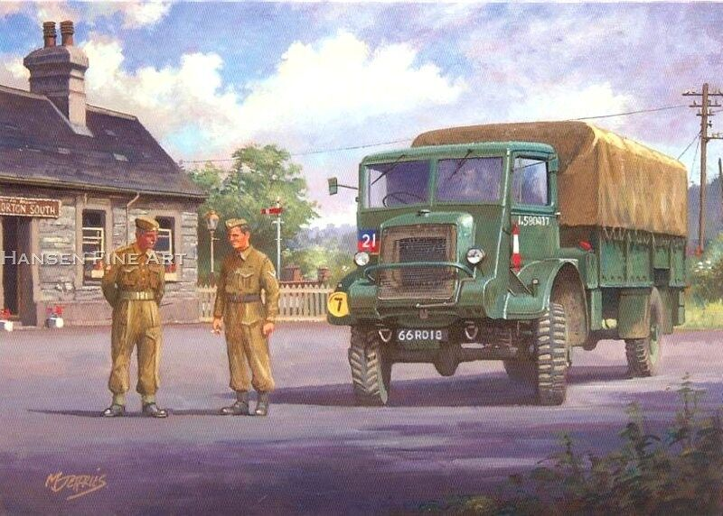 Old British Army Lorry Truck Bedford Ql National Service