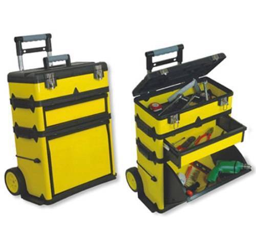 NEW Yellow Portable Tool Shop.Wheel Rolling Metal Cabinet Storage.Workshop.  | EBay