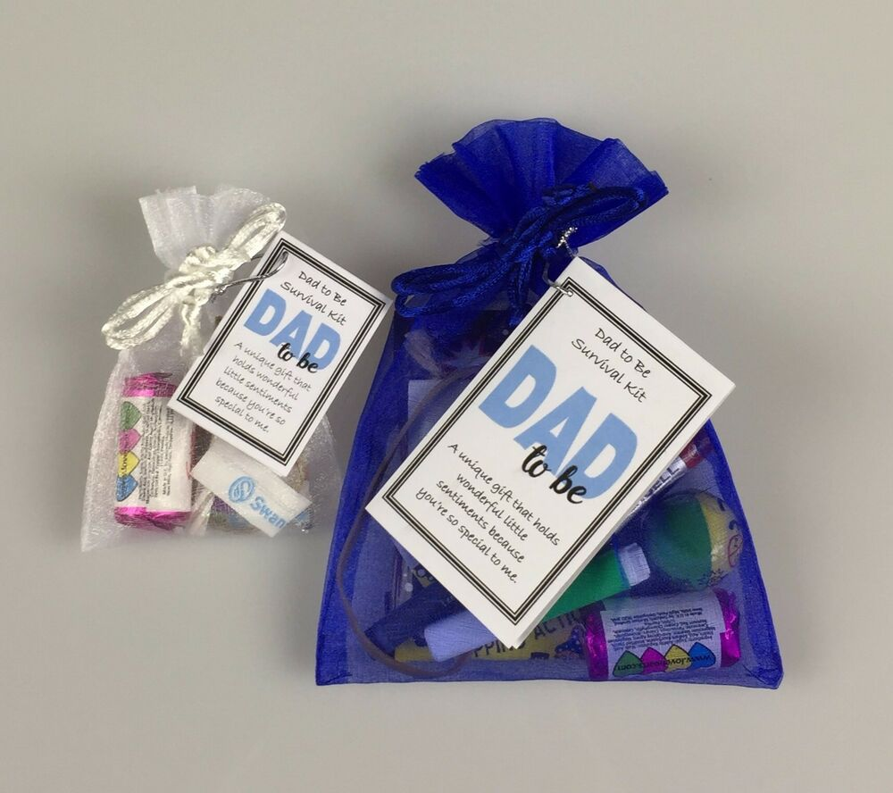dad to be survival kit novelty keepsake baby shower gift personalised option ebay. Black Bedroom Furniture Sets. Home Design Ideas