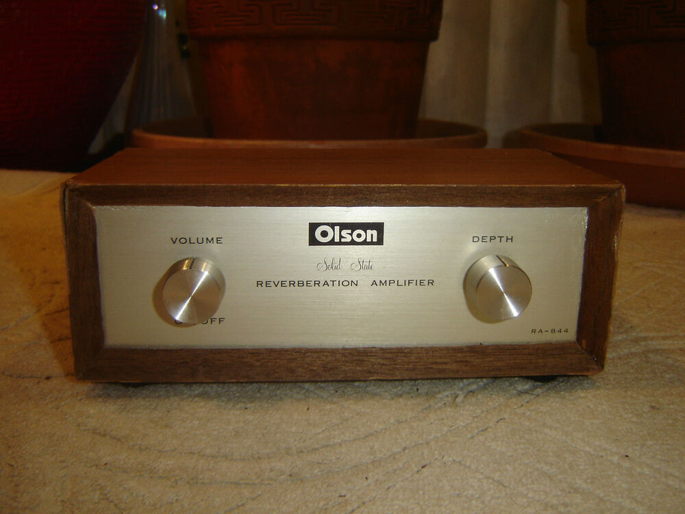olson ra 844 solid state reverberation amplifier spring reverb vintage unit ebay. Black Bedroom Furniture Sets. Home Design Ideas