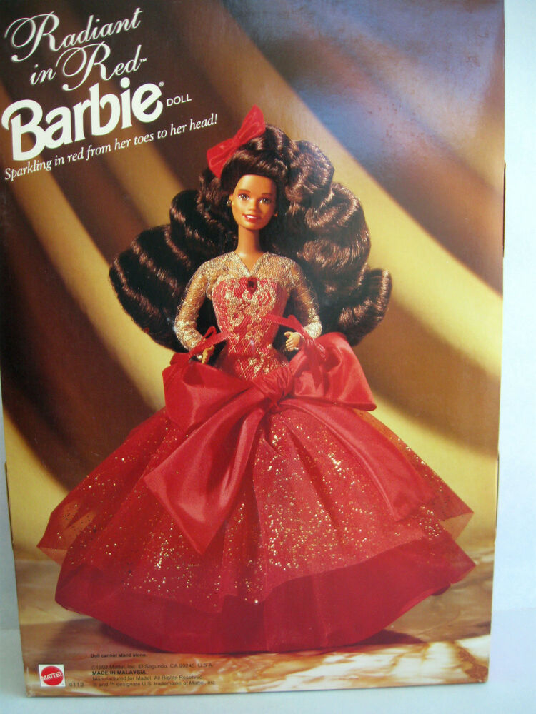 """Mattel 11.5"""" long dark curly hair Special Edition Barbie Radiant in ..."""