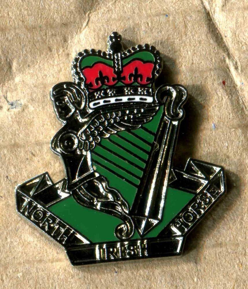 north irish horse lapel badge yeomanry british army 152 ebay. Black Bedroom Furniture Sets. Home Design Ideas