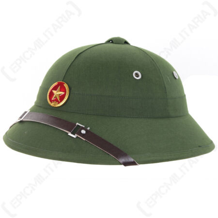 img-Vietnam War VIETCONG ARMY PITH HELMET Repro Vietnamese Jungle Explorer Head Gear