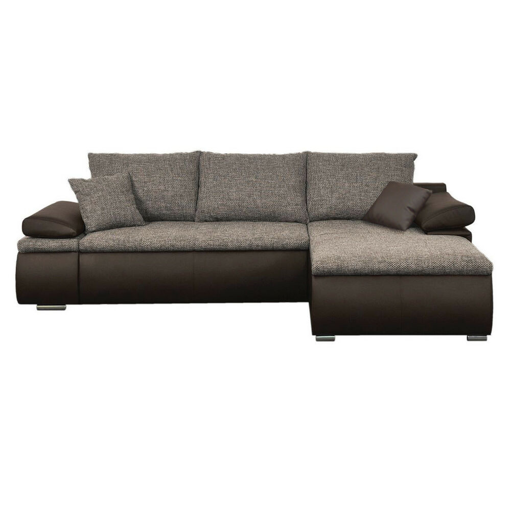 Ecksofa celina sofa couch in dunkelbraun braun inkl for Sofa ankauf
