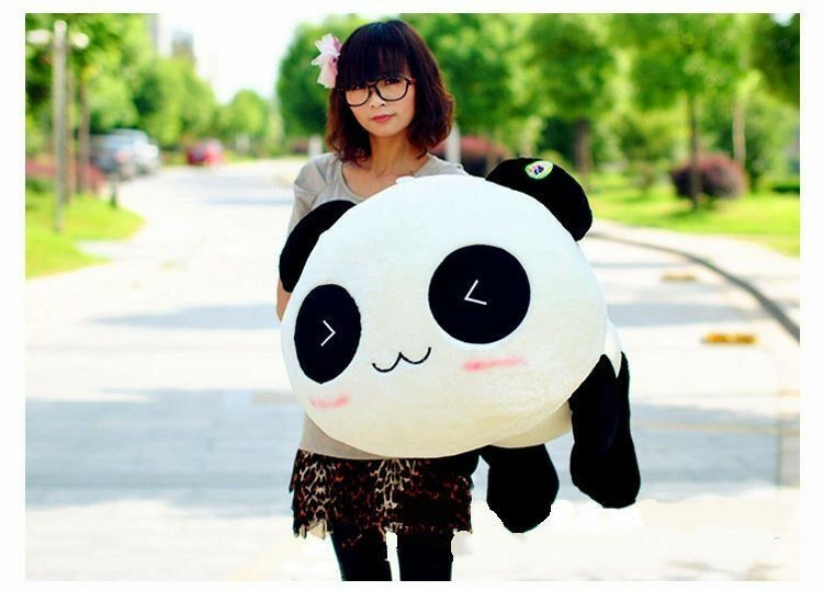 High quality bolster/ pillow Plush Toy Stuffed Animal Cute Panda Gift 70cm Gift eBay