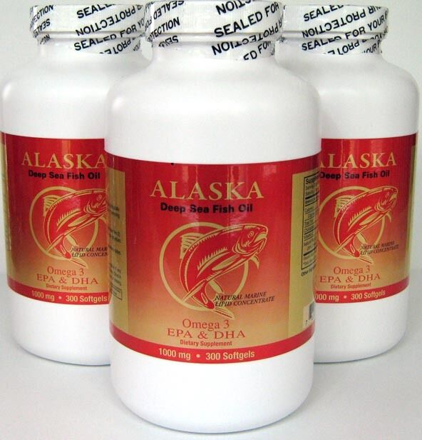 3 x omega 3 alaska deep sea fish oil 1000mg 300 sg x3 900 for Alaska deep sea fish oil