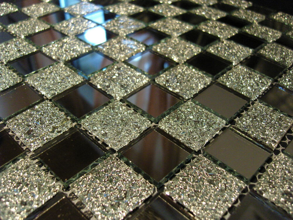 1 matte glasmosaik mosaik fliesen klarglas spiegel nm02 klarglas spiegelmosaik ebay. Black Bedroom Furniture Sets. Home Design Ideas
