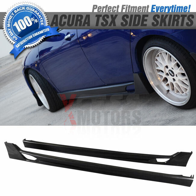 04 08 Acura Tsx Pu Poly Urethane Side Skirts Pair Bodykit